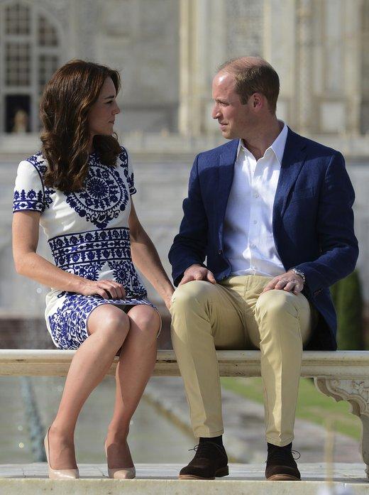 Kate in William pred Tadž Mahalom - 3