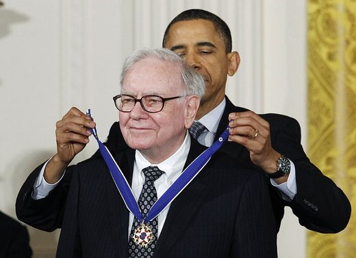 Barack Obama in Warren Buffet