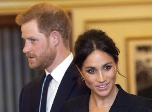 Princ Harry in Meghan Markle