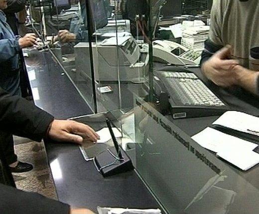 Plačevanje na bančnem okencu