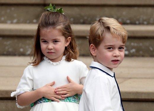 Princesa Charlotte in princ George