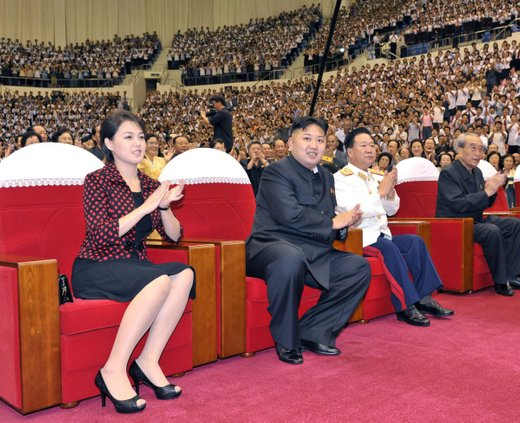 Kim Džong Un z ženo