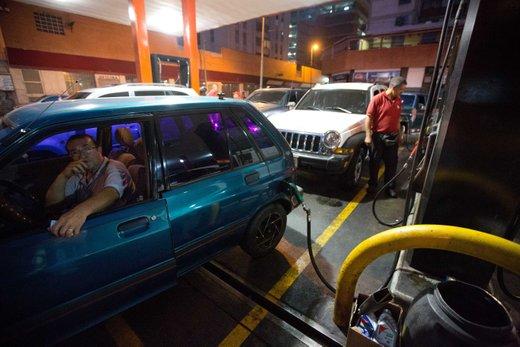 Na bencinski črpalki