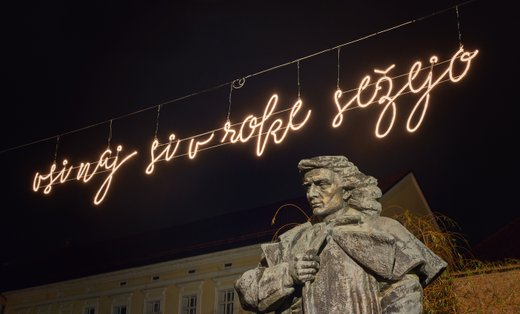 Prešernov spomenik v Kranju