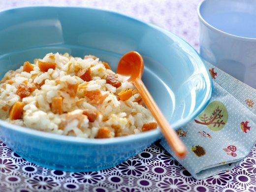 Zelenjavna rižota za malčke