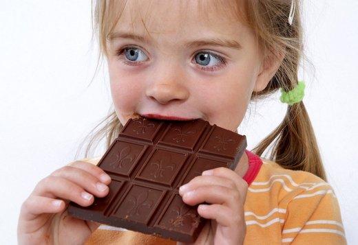 Otrok in čokolada