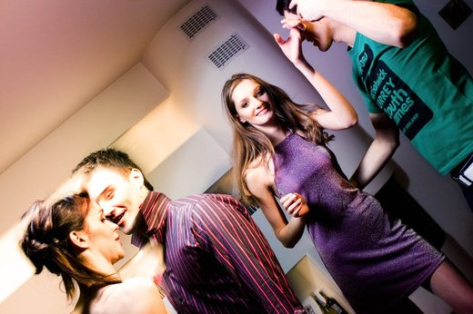 Najstniki na zabavi