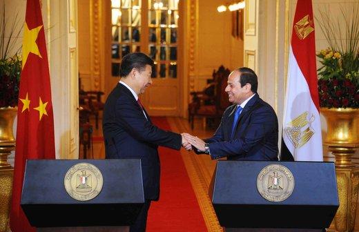 Xi in al Sisi, srečanje v Kairu