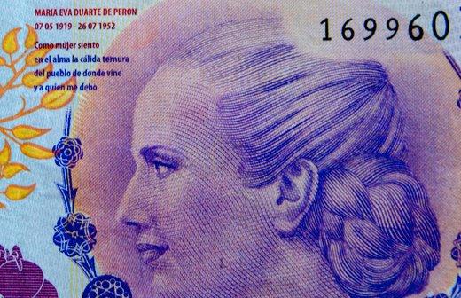 Bankovec, na katerem je Evita Peron
