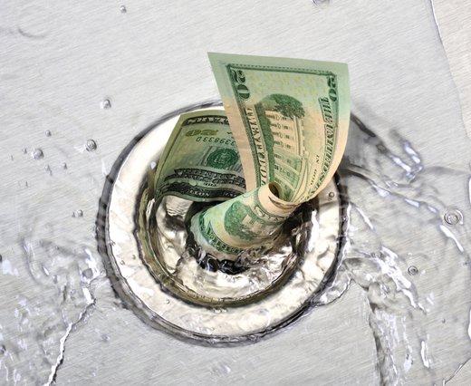 denar v odtoku