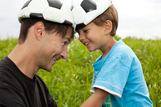 Oče in sin, nogometna navdušenca