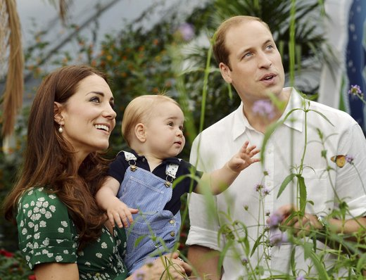 Kate Middleton, princ William in sin George