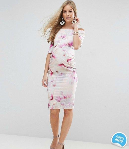 Dolga nosečniška obleka