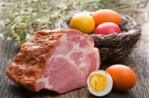 Jajca in šunka
