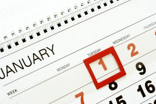 dela prosti dnevi na koledarju