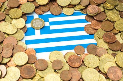 Grška zastava in denar