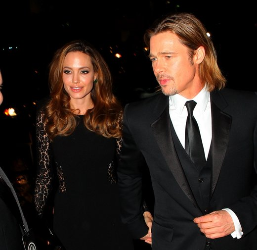 Angelina Jolie in Brad Pitt