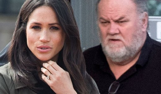 Meghan in oče Thomas Markle