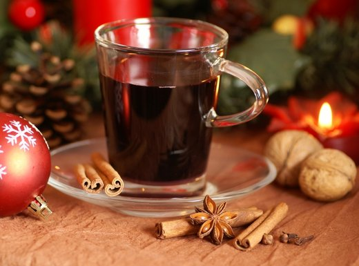kuhano vino, čar božiča