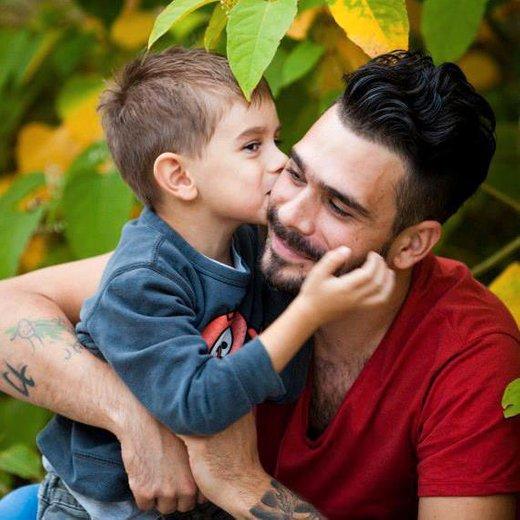 Jani Jugovič s sinom Tajem