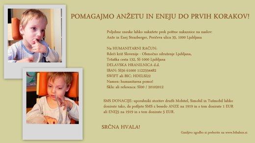 Donacija - Anže in Enej