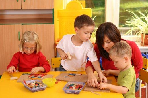 Otroci v vrtcu