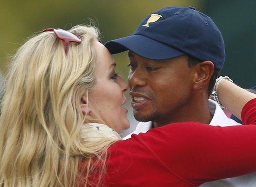 Lindsey Vonn in Tiger Woods - 8