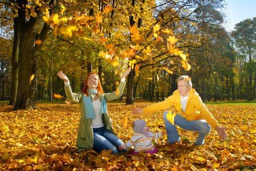 Družina v gozdu