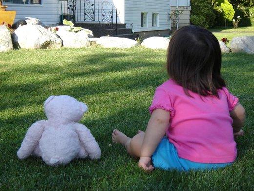 Otrok in medvedek