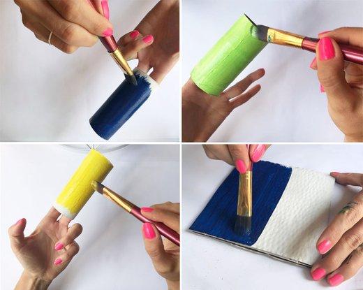 ustvarjanje s tulci, lonček za pisala