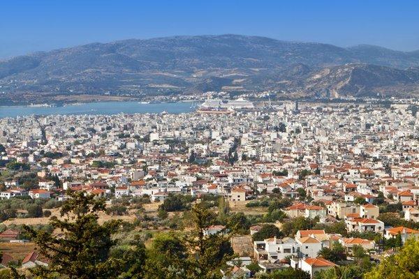Mesto Volos v Grčiji