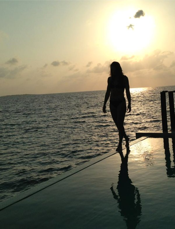 Tina Maze na počitnicah na Maldivih