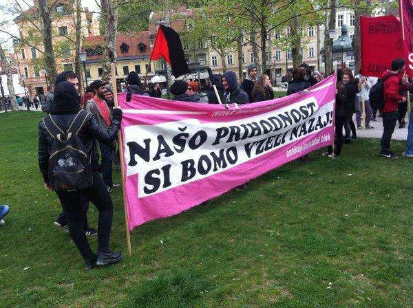 Protest študentov proti šolninam