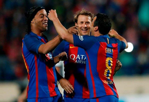Ronaldinho Gaizka Mendieta Ludovic Giuly