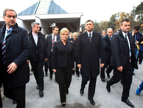 Kolinda Grabar-Kitarović in Borut Pahor