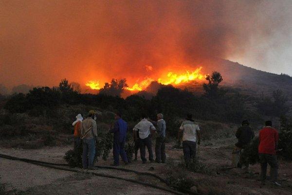Požar na otoku Hios
