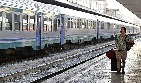 Železniška postaja v Italiji