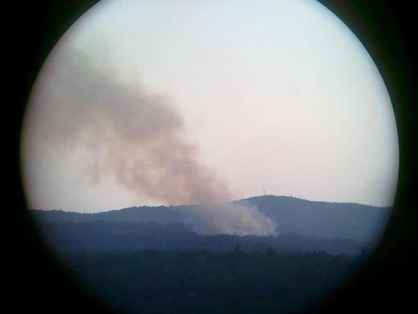 Požar pri naselju Orlek