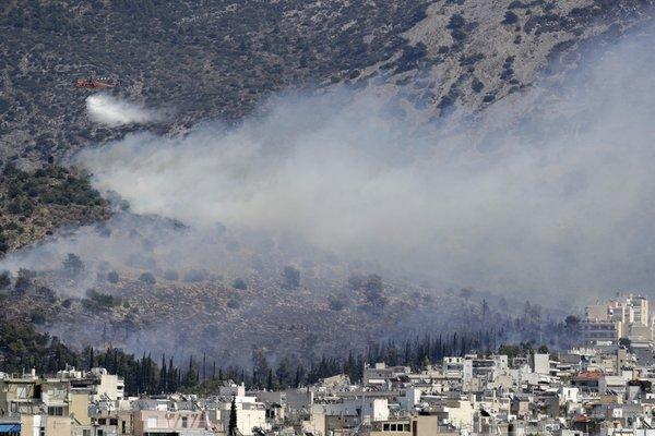 Požar v Grčiji