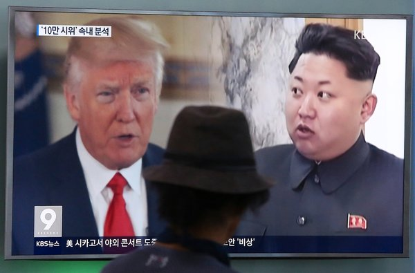 Trump in Kim Džong Un