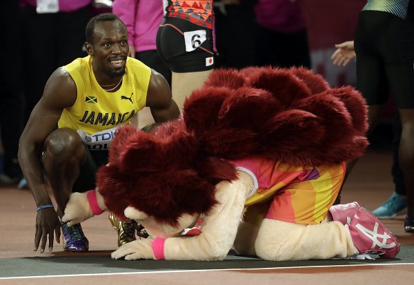 Usain Bolt in Hero the Hedgehog