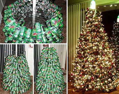 Image result for christmas tree recycled materials