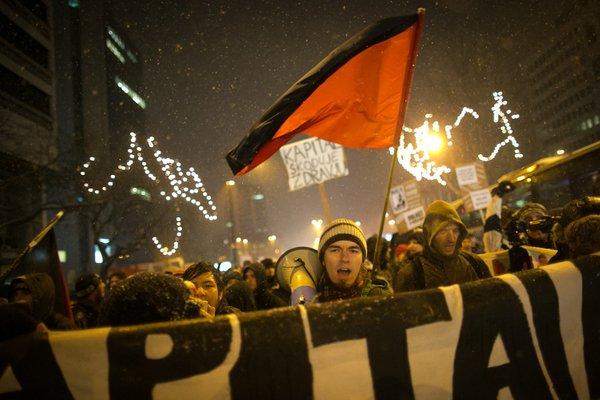 Protestniki na poti po Ljubljani - 5