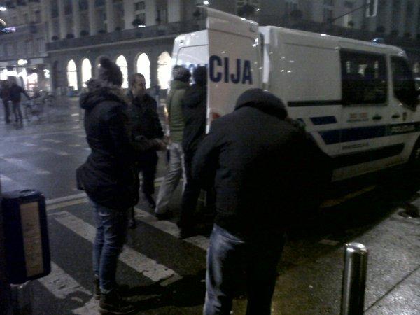 Aretacija protestnika