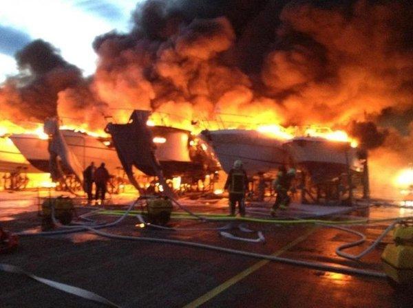 Požar v marini na Krku - 2