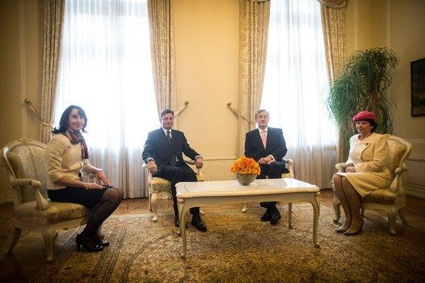 Borut Pahor, Tanja Pečar, Danilo Türk in Barbara Miklič Türk - 2