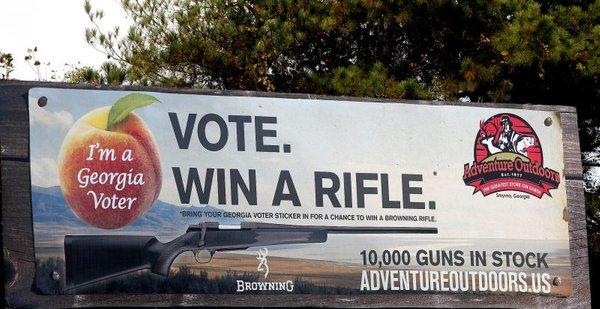 Plakat, ki ponuja orožje