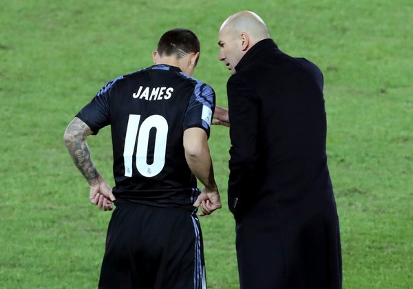 James Rodriguez in Zinedine Zidane