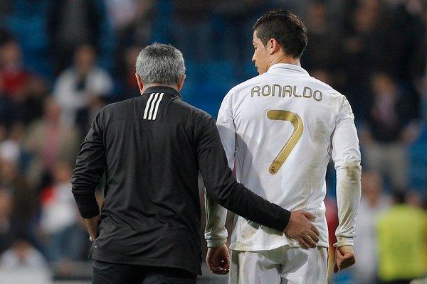 Jose Mourinho in Cristiano Ronaldo