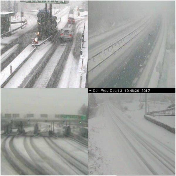 Sneg na primorski avtocesti